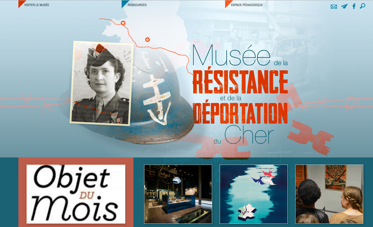 page d'accueil du site du                                       Musée de la Résistance et de la                                       Déportation du Cher